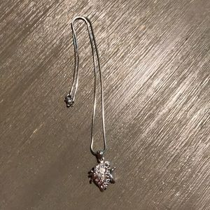 Silver fish necklace